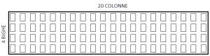 Display a matrice 20 colonne x 4 righe 20x4