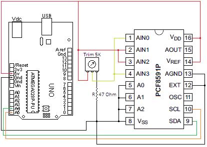 Schema Elettrico PCF8591P