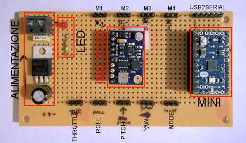 Centralina Arduino Multiwii Quadricottero