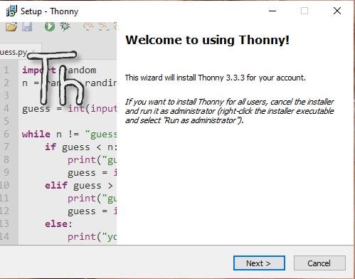 Installazione di Thonny